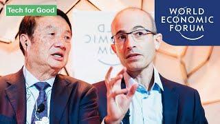 A Future Shaped By A Technological Arms Race with Yuval Noah Harari & Ren Zhengfei | DAVOS 2020