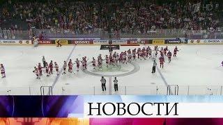 Сборная России победила команду Дании наЧемпионате мира похоккею.