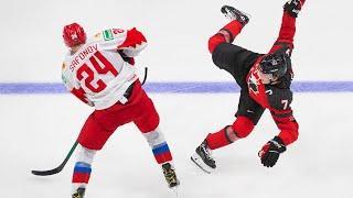 Хоккей. 1/2 финала. Россия-Канада. Russia U20 - Canada U20. 05.01.2021. Молодежный чемпионат мира.