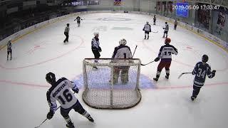 09-06-19 3-й п-д Ворота с тыла  ХКЛ vs Аэропорт Домодедово.  Играйте в хоккей в Домодедово.