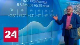 """""""Погода 24"""": над Русской равниной столкнулись жара, прохлада и дожди - Россия 24"""