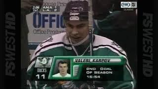 Valeri Karpov's nice breakaway goal vs Kings for Ducks (1996)
