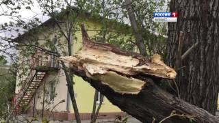 Появилось видео последствий урагана в Кемерове