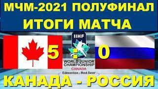 НОВОСТИ: ХОККЕЙ: МЧМ-2021: 1/2 финала: Результат матча Россия - Канада. Полный разгром.