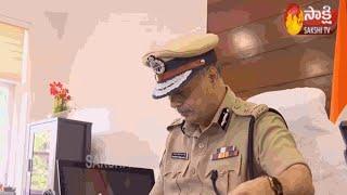 IPS Officer Srinivas Takes Charge as Vijayawada Commissioner of Police | Sakshi TV