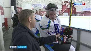 """""""Карельские медведи"""" обыграли финнов в хоккей"""