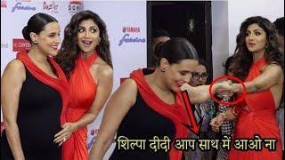 Neha Dhupia Respect For Shilpa Shetty At YAMAHA FASCINO MISS DIVA 2018