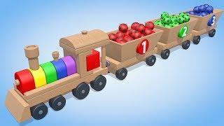 Футбольные Мячи. Учим цвета для детей. Развивающие мультфильмы для малышей. Паровозик Олли