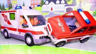 Мультики для детей с игрушками. Про пожарных! Развивающий мультфильм