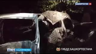 Появилось видео с места страшного ДТП в Башкирии, где погибло трое молодых людей
