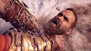 Комбо Кратос и Сын Атрей против Бальдра.  God of War. 2018