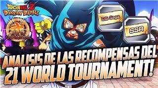 Análisis de las Recompensas del 21er World Tournament! | DBZ Dokkan Battle En Español