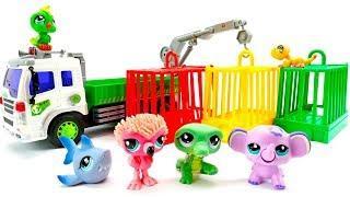Мультики для малышей. Зоопарк. Строим вольеры для животных
