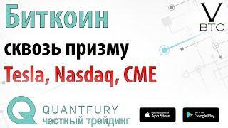 Биткоин на поводке у фондового рынка. Анализ биткоин фьючерсов на СМЕ.