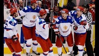 Хоккей. МЧМ-15. Сборная России забивает три гола Канаде (Канада – Россия 5:4; Canada - Russia - 5:4)