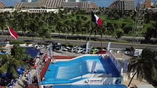 Brad Spencer on the FlowRider during the World Flowboarding Championships 2017 AquaWorld Cancun DJI