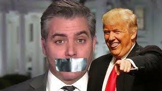 President Trump Refuses Jim Acosta's Questions - Calling It Fake News