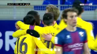 Гол Френки Де Йонга в матче Уэска-Барселона / De Jong goal (03.01.2021)