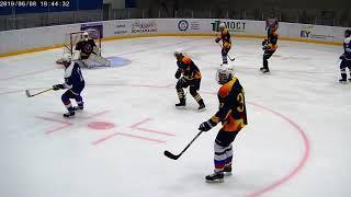 08-06-19 1п Ворота с боку Бешеные Белки vs  Дружина ДМД.  Играйте в хоккей в Домодедово