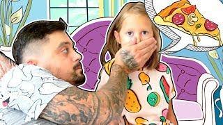 Когда МАМЫ нет Дома! Остаться с папой на целый день! Мультики, игры и пицца! Видео для детей!