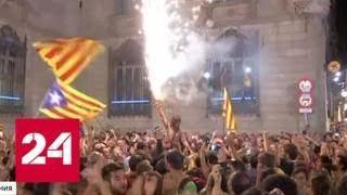 Каталонский боевик: двоевластие и петарды независимости - Россия 24