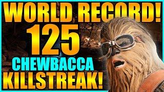 (Old WORLD RECORD!) Star Wars Battlefront 2 - 125 Chewbacca Killstreak (Endor)