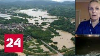 Более двухсот тысяч жителей востока Китая эвакуировали из-за тайфуна Яги - Россия 24