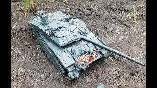Т 90 ПРОРЫВ из пластилина полное уничтожение