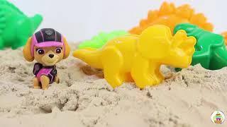 Щенячий патруль новые серии ДИНОЗАВРЫ Мультфильмы 2017 Развивающие мультики про игрушки PAW PATROL