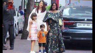 Aishwariya Rai And Salman Khan's Sister Arpita Khan Arrive At Shilpa Shetty Son Viaan Raj Birthday