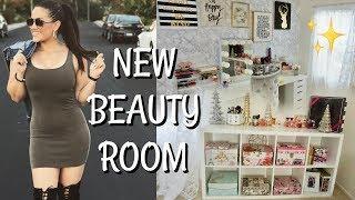 GIRL BOSS OFFICE & BEAUTY ROOM TOUR!! VLOG