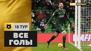 Все голы 18-го тура Тинькофф РПЛ