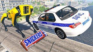 МАШИНКИ ПРОТИВ РОБОТОВ BeamNG Drive Игровые мультики для мальчиков Аварии машины разбились Игра