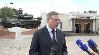 Александр Бурков открыл в Омске памятник танку Т-80