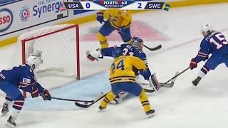 Чемпионат мира по хоккею 2017-2018 (U20). США - Швеция .OБЗOP MAТЧA  1/2 ФИHAЛА.