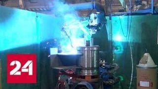 На Кировском заводе показали разработки юных робототехников - Россия 24