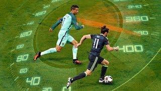 Сумасшедшая скорость футболистов. Роналду, Бэйл, Салах