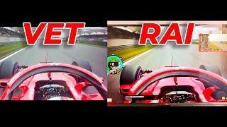 F1 Chinese GP 2018 Vettel - Raikkonen Pole Lap COMPARISON | AMAZING!!!!
