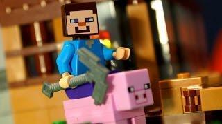 Мультики Лего Майнкрафт - Приключения Стива - на русском языке. Lego Stop Motion