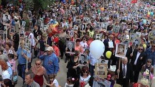 09.05.2017 Крым, Феодосия - шествие «Бессмертный полк», День победы, 9 мая