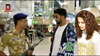 Abhishek Bachchan, Tapsee Pannu Spotted At Mumbai Airport