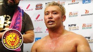 WRESTLING DONTAKU 2018 (May 4) - Post-match Interview [9th match]