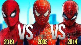 НОВЫЙ ЧЕЛОВЕК ПАУК VS ЧЕЛОВЕК ПАУК 2002 VS ЧЕЛОВЕК-ПАУК 2019   СУПЕР РЭП БИТВА   Spiderman Movie